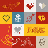 Different abstract heart icons collection Royalty Free Stock Images
