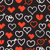 Different abstract hearts pattern Stock Images