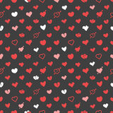 Different abstract hearts pattern. Valentines greeting card layo Stock Photo