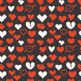 Different abstract hearts Royalty Free Stock Photos
