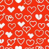 Different abstract hearts seamless pattern Royalty Free Stock Photo