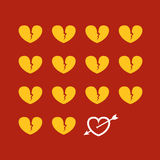 Different abstract hearts Royalty Free Stock Photography