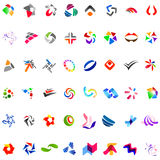 48 different abstract trendy symbols. Collection of 48 different abstract trendy symbols Royalty Free Stock Photos