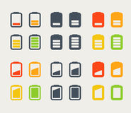 Different accumulator icons set Stock Image