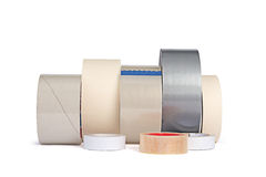 Different adhesive tapes Royalty Free Stock Photos