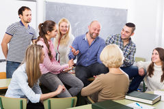Different age students during break Royalty Free Stock Photo