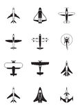 Different aircrafts. From above - vector illustration Royalty Free Stock Images