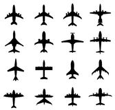 Different Airplane Silhouette-Vector Stock Photos