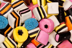 Different all sorts sweets in a pile Royalty Free Stock Photo