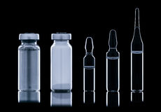 Different ampoule with liquid. Royalty Free Stock Photography
