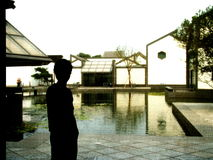 Different angle of Suzhou museum stock photo