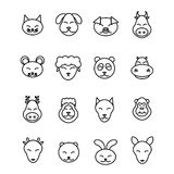 Different animals vector. Icons set pet Stock Image