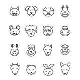 Different animals vector. Icons set pet stock illustration