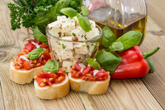 Different Antipasto Royalty Free Stock Photography