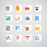 Different application icons set Stock Images