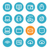 Different application icons set with rounded corners Stock Image
