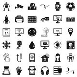 Different apps icons set, simple style. Different apps icons set. Simple style of 36 different apps vector icons for web isolated on white background Stock Photo
