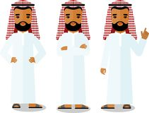 different arabic business people in different poses. Stock Image
