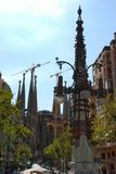 Different architecture of Barcelona, Sagrada Familia Gaudi Royalty Free Stock Photo