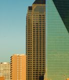 Different Architecture Style. In Dallas Texas Skyline in the Early Evening Royalty Free Stock Photography