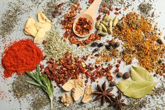Different aromatic spices stock photography