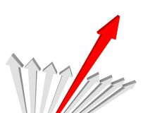 Different arrow Royalty Free Stock Photos