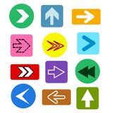 Different Arrows buttons icons,vector set. Abstract elements for vector illustration