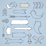 Different Arrows Royalty Free Stock Photos