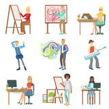Different Artistic Professions Set Of Illustrations Royalty Free Stock Image