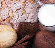 Different assortment fresh bread Stock Images