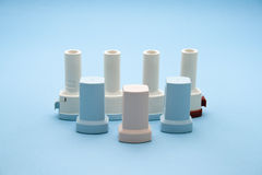Different Asthma Inhaler Stock Photos