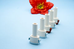 Different Asthma Inhaler Royalty Free Stock Images