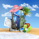 Different attractions for the summer look Stock Photo