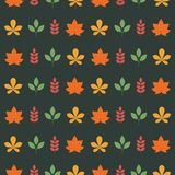 Colorful seamless patterns on the theme of education, school, au. Different autumn leaves, yellow orange, red, green. Colorful seamless patterns on the theme of Stock Images