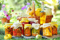 Different autumn preserves Stock Photo