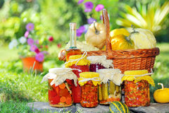 Different autumn preserves Royalty Free Stock Photography