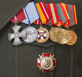 Different awards and medals Royalty Free Stock Images