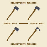 Different axe types  icon set. Design template Stock Images