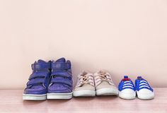 Different baby shoes Stock Photos