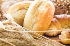 Different bakery products bread rolls grain Stock Photography