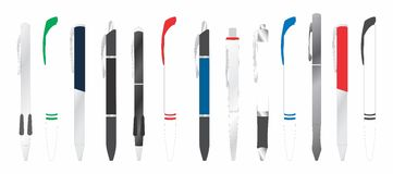 Different ball pens Stock Image