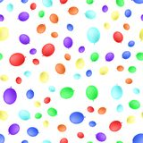 Different balloons seamless pattern. Vector illustration isolated on white background. Realistic style stock illustration