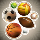 Different balls set Royalty Free Stock Photography