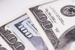 Different bank notes 100 dollars Stock Photography