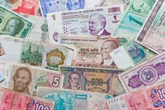 Different banknotes Stock Images