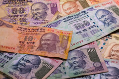 Different banknotes from India Stock Photos