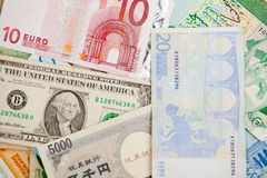 Different banknotes Royalty Free Stock Photo