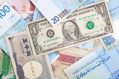 Different banknotes. World Paper Money background Royalty Free Stock Photography