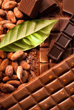 Different bars of chocolate stock images