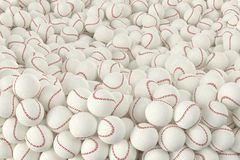 Different Baseballs Stock Photography